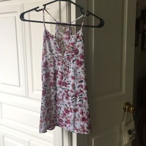 Floral polyester sleeveless top